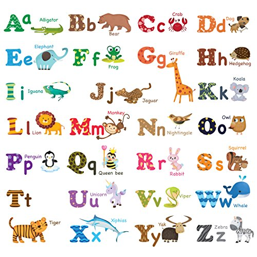 Decowall DW 1308 Alphabet Animals Stickers product image