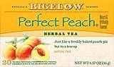 Bigelow Perfect Peach Herbal Tea 20 Bags (Pack of 6) Caffeine-Free Individual Herbal Tisane Bags, for Hot Tea or Iced Tea, Drink Plain or Sweetened with Honey or Sugar