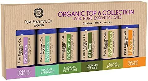 Pure Essential Oil Works Organic Top 6 Collection