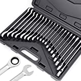 HORUSDY 20-Piece Ratcheting Wrench Set, SAE & METRIC Wrench Set, Ratchet Wrench Set