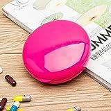 Sinwo Portable 7 Day Weekly Pill Medicine Box Holder Storage Organizer Container Case (Hot pink)