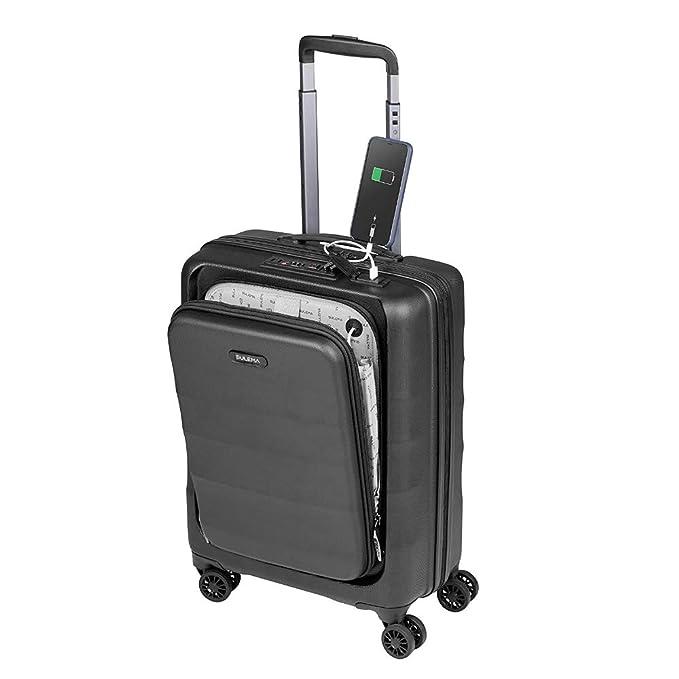 Maletas de Cabina 55x40x20 con USB de Carga Equipaje de Mano Trolley rigida 4 Ruedas giratorias 360º candado TSA Maleta Ryanair, American tourister Sulema