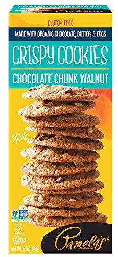 Pamela's Products Cookie - Crispy - Chocolate Chunk Walnut - Case of 6 - 6 oz