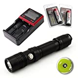 thrunite package - ThruNite TN12 XP-L Edition 1110 Lumen Single Cree XP-L LED EDC Flashlight Black 2 X ThruNite 18650 3400Mah Battery 1 X MCC-2S Charger (Neutral White)