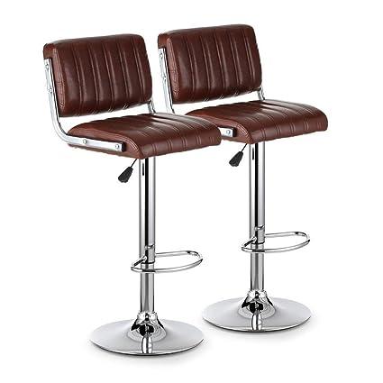 Tremendous Amazon Com Sevenpring Affordable Furniture Pu Leather Bar Machost Co Dining Chair Design Ideas Machostcouk