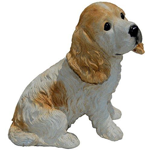 Michael Carr Designs 80094 Buffy-Cocker Spaniel Puppy Statue, Medium, White/Tan