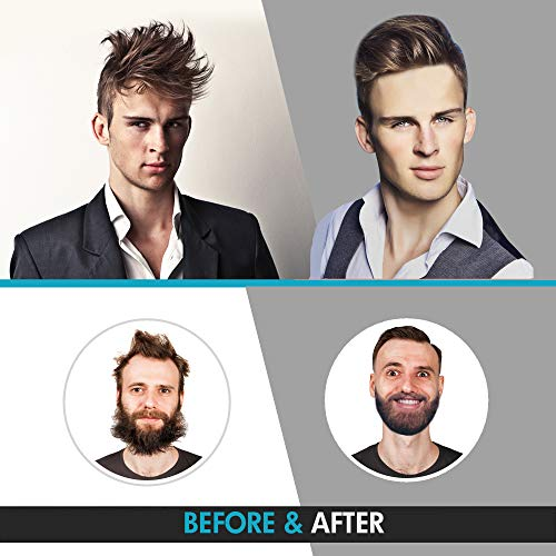 Cutie Academy Electric Beard Straightener for Men - Professional Quick Styling Comb for Frizz-Free Beard Hair - Ceramic Ionic Heating Control - Portable Brush with Anti-Scald Feature