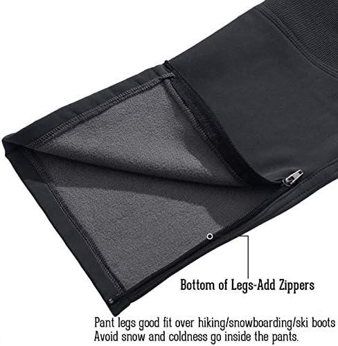 NAVEKULL Men's Ski Snow Pants Fleece Lined Windproof Outdoor Snowboard Trousers with Zipper Pockets