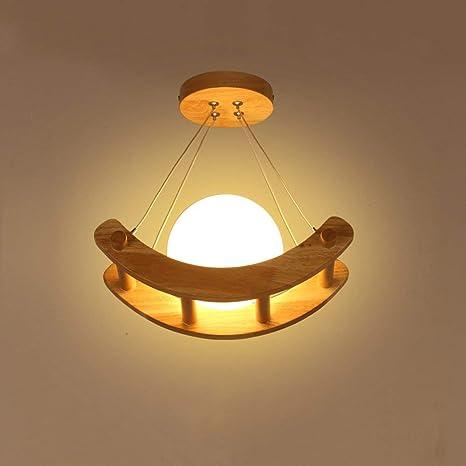 Luces de techo de madera Lámpara de techo rústica de pueblo ...
