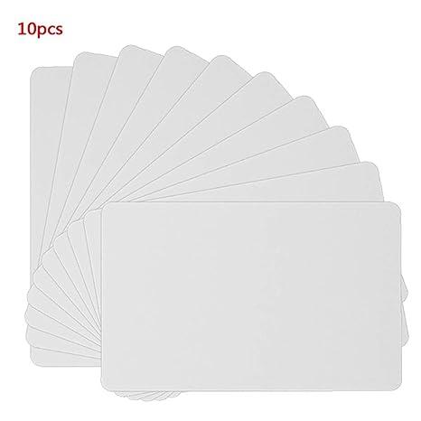 WE-WHLL 10PCS NFC NTAG215 Tarjeta Blanca para Etiqueta TagMo ...