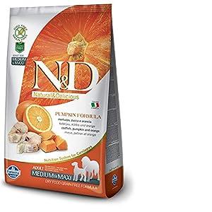 Farmina N&D Grain Free Pumpkin Codfish and Orange Adult Food, 2.5 kg (Medium and Maxi)