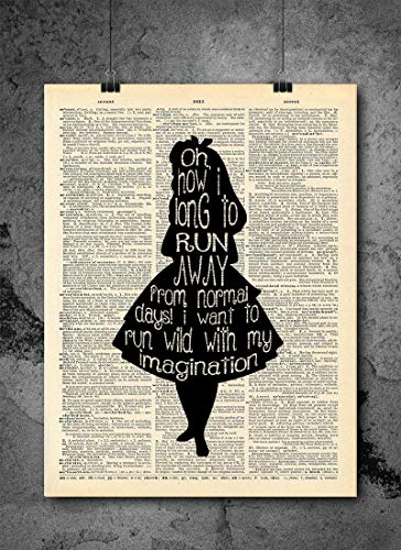 Why Be Normal Cheshire Cat Quote Dictionary Print Alice Wonderland