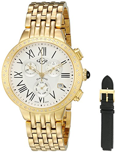 GV2-by-Gevril-Womens-ASTOR-Chronograph-Swiss-Quartz-Stainless-Steel-Casual-Watch-ColorGold-Toned-Model-9131
