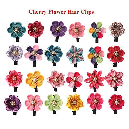 6Pcs Baby Girls Flower Hair Clips Toddler Kids