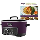Ninja 6 Quart 4-In-1 Slow Cooker with Recipe Book (Certified Refurbished) For Sale