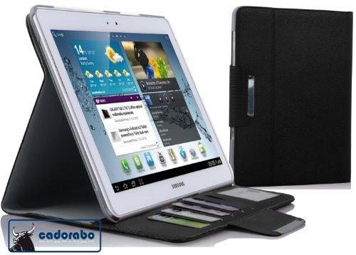 Cadorabo ®! Samsung Galaxy Tab 2 10.1 Tablet (P5100/ P5110) Slim Funda De piel sintética con cierre magnético y función de soporte en in negra
