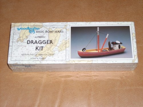 Woodkrafter Kits Basic Boat Series - Authentic DRAGGER KIT 102 - All parts pre-cut/hull and cabin, mast, boom and hatch cover, life boat and runnin glights, rigging and net, assembly and painting instructions.