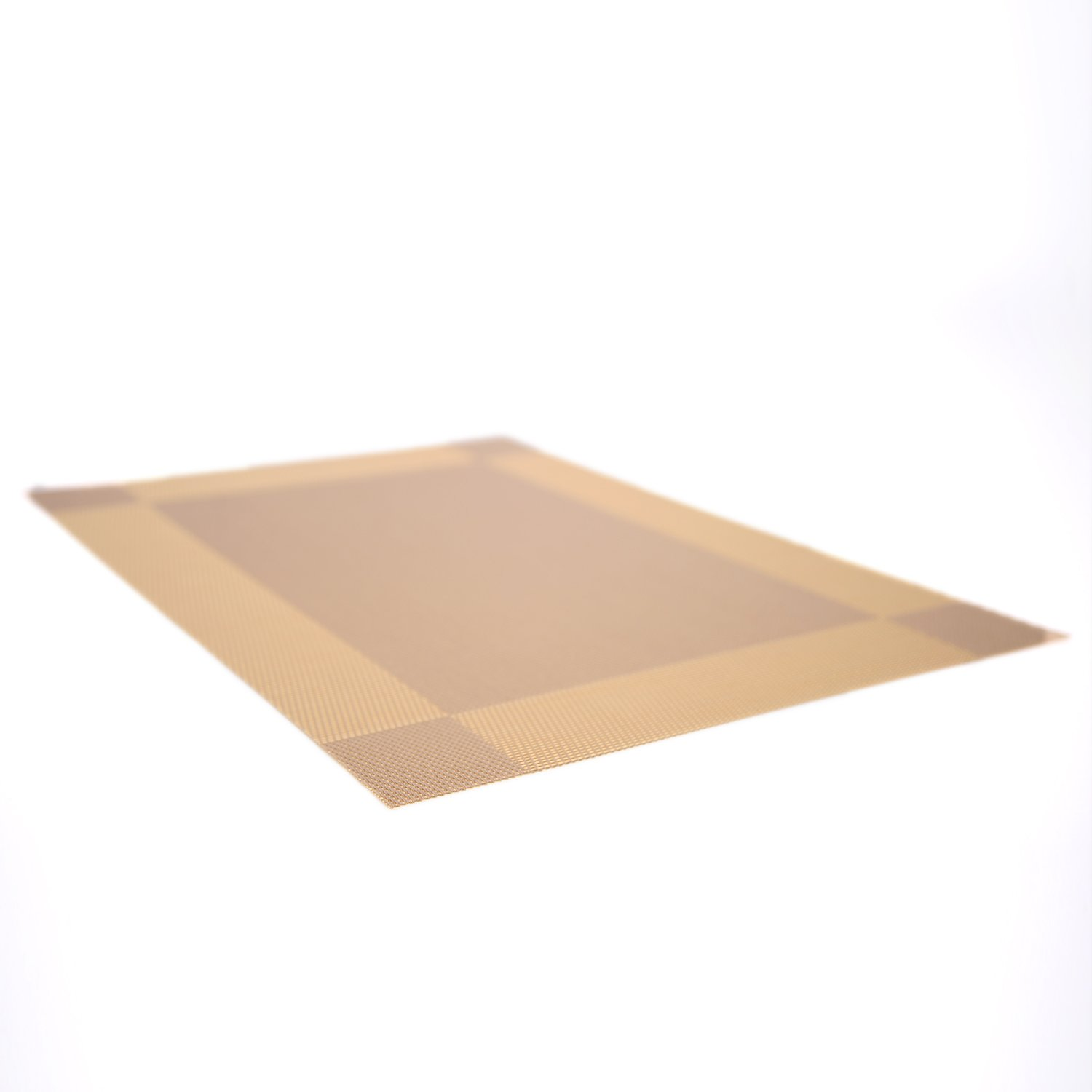 Set of 4 Placemats Only Supermarket Heat-resistant Placemats Stain Resistant Anti-skid Washable Textilene Table Mats Woven Vinyl Placemats Gold