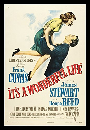 Old Tin Sign It's A Wonderful Life Jimmy Stewart Classic Vin