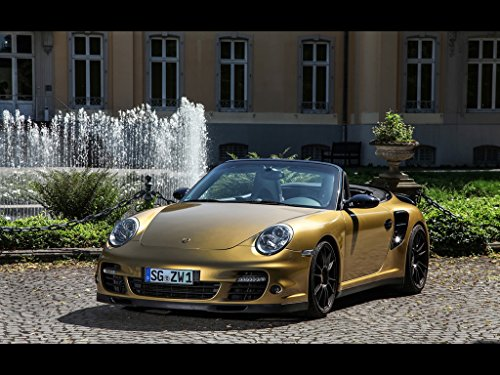 Amazon.com: Porsche 997 Turbo Cabriolet by Wimmer (2016) Car Print on 10 Mil Archival Satin Paper Gold Front Side Static View 11