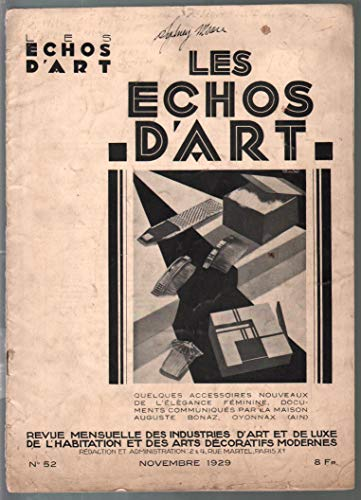 Les Echos D'Art #52 11/1929-French industrial art-Art Deco-photos-VG