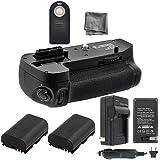 Battery Grip Bundle F/ Nikon D7000: Includes MB-D11 Replacement Grip, 2-Pk EN-EL15 Long-Life Batteries, Charger, More