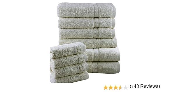Casabella Juego de toallas de ba/ño 10 unidades Gris 10 unidades algod/ón