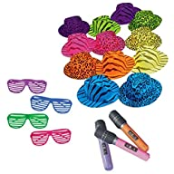 Superstar Rock Star Party Bundle for 12: Sunglasses, Hats, and Microphones