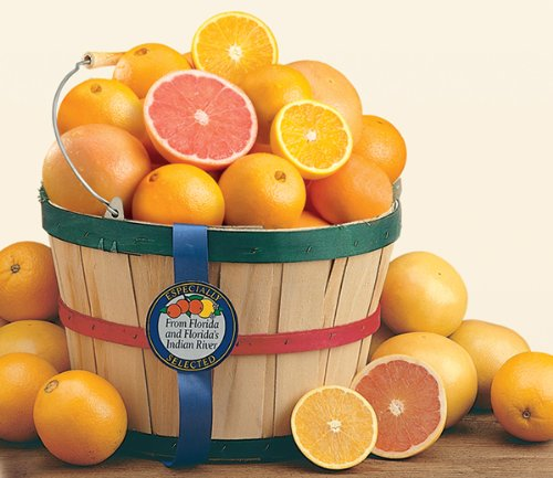Grove Fresh Ruby Red Grapefruit and Navel Orange Indian River Citrus Basket, Approx. 10lbs by Florida Specialty