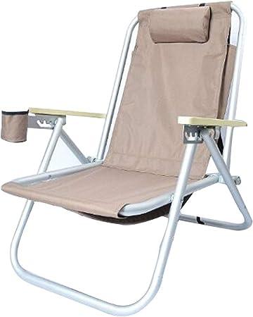 Folding chair Sillas Gravedad Cero Plegable De Jardín Tumbonas Honda Reclinable Silla Reclinable Jardín Tumbona Ajustable con Almohada Yard Camping Sentado Y Acostado De Doble Uso: Amazon.es: Hogar
