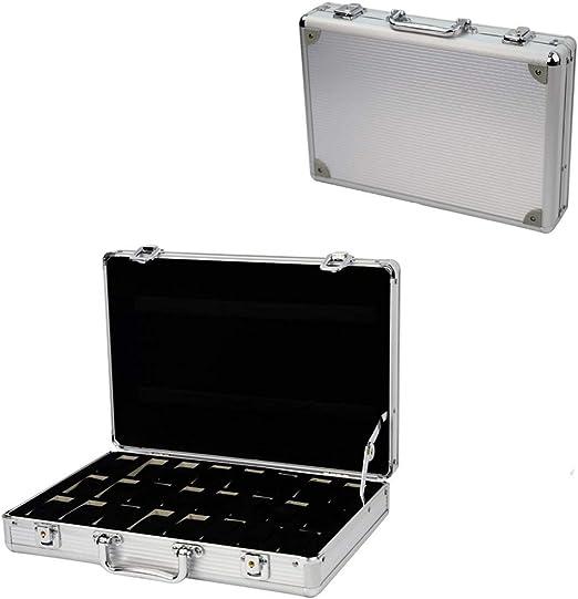 Caja de seguridad para 24 relojes, caja de aluminio: Amazon.es: Relojes