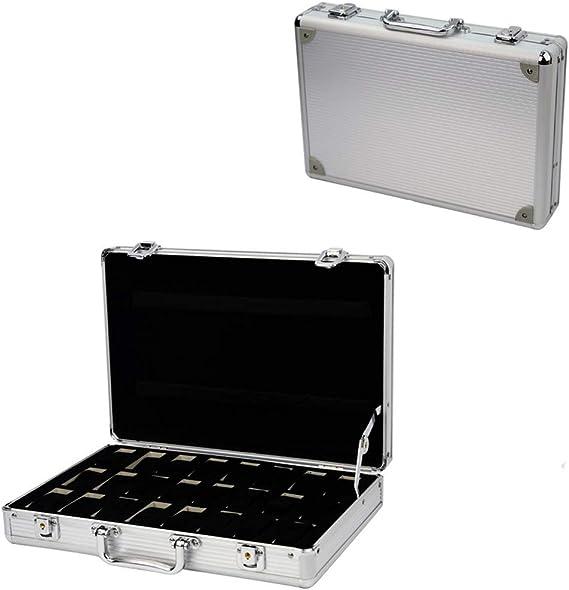Caja de seguridad para 24 relojes, caja de aluminio: Amazon.es ...