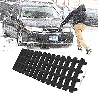 JOJOMARK Tire Traction Mat, Portable Emergency Devices for Snow, Ice, Mud, and Sand Used to Car, Truck, Van or Fleet Vehicle(1 PCS): Automotive