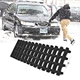 JOJOMARK Tire Traction Mats, Portable Emergency Devices for Snow, Ice, Mud, and Sand Used to Car, Truck, Van or Fleet Vehicle