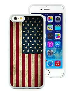Unique iPhone 6 6S 4.7 Inch TPU Case ,Popular And Durable Designed With American Flag White iPhone 6 6S Cover