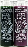 INDIO 7 Day Glass Candle John The Conqueror House Blessing - Purple