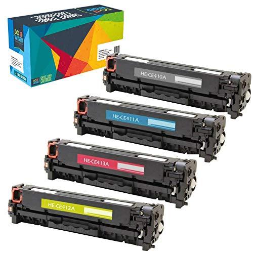 Do it Wiser 4 Pack Compatible HP 305A CE410X CE411A CE412A CE413A Toner Cartridge use HP Laserjet Pro 400 Color MFP M451nw,M451dn, M451dw, MFP M475dn, MFP M475dw, Pro 300 Color (Compatible Color Laser Toner)