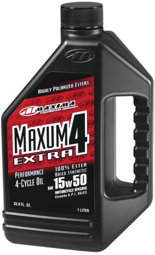 maxima-32901-extra4-15w-50-synthetic-4t-motorcycle-engine-oil-1-liter-bottle