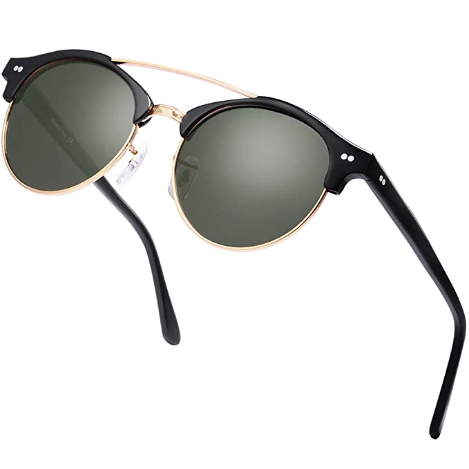 Amazon.com: Ronda browbar – Gafas de sol, Color carfia Retro ...