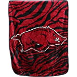 "College Covers Arkansas Razorbacks Super Soft Raschel Throw Blanket, 50"" x 60"""