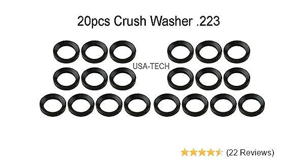 USA-TECH 20PCS .223 5.56 1//2 x28 Thread Steel Crush Washer