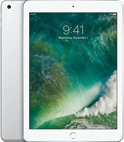 Apple iPad 9.7 with WiFi, 128GB- Silver (2017 Model) - (Renewed)