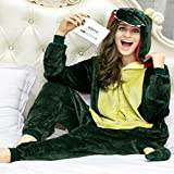 iSZEYU Adult Pajama Dinosaur Christmas Costumes Onesies For Women Men Teens Girl