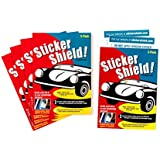 Sticker Shield - Windshield Sticker Applicator for Easy Application, Removal and Re-Application from Car to Car - 5 Packs of 4 inch x 6 inch Sheets (Total of 10 Sheets)