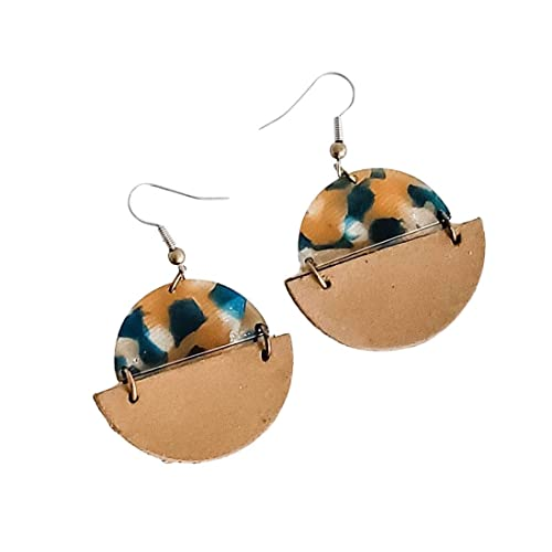 creation of earrings Copper charms resin handmade jewelry