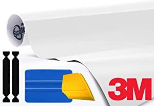 3M 1080 Gloss White Vinyl Wrap Roll Including Toolkit (1ft x 5ft)