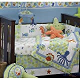 Lambs Ivy Bubbles 6-Piece Crib Bedding Set