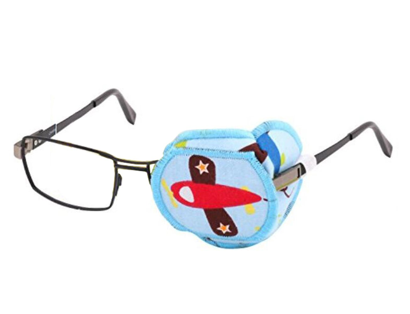 1PCS Pure Cotton Reusable Eye Patch Cartoon Amblyopia Eye Patches For Glasses Treat Lazy Eye and Strabismus For Kids Children,Vision Care Eye Mask (Left Eye)