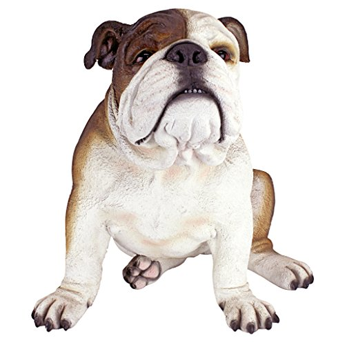 Design Toscano Buster the Bulldog British Decor Garden Statue, 16 Inch, Polyresin, Full Color For Sale