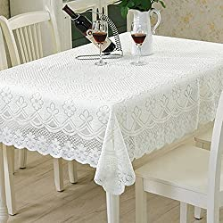 yazi Lace Sectional Sofa Throw Covers Furniture Protector Recliner Cover White Table Sofa Doily 47 inch square